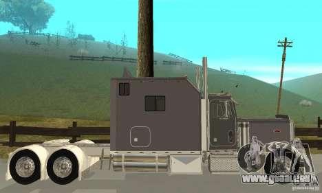 Peterbilt 379 Custom Legacy für GTA San Andreas zurück linke Ansicht