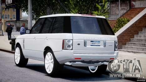 Range Rover Supercharged 2009 v2.0 pour GTA 4 Vue arrière de la gauche