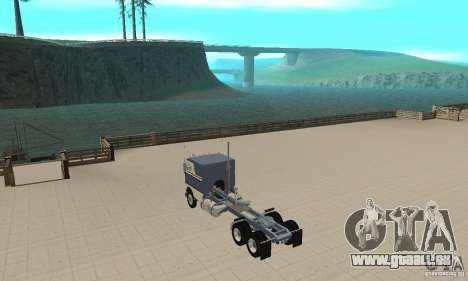 White Freightliner Extended Wheel Base für GTA San Andreas zurück linke Ansicht