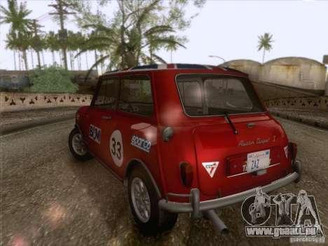 Austin Cooper S 1965 für GTA San Andreas obere Ansicht