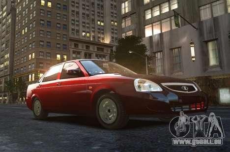 VAZ Lada 2170 Priora pour GTA 4 vue de dessus