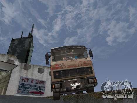Kolkhoze MAZ 5551 pour GTA San Andreas vue arrière