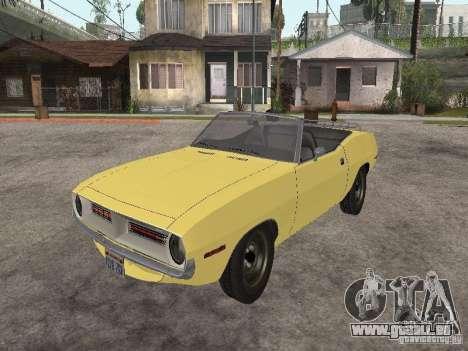 Plymouth Barracuda Rag Top 1970 für GTA San Andreas Rückansicht