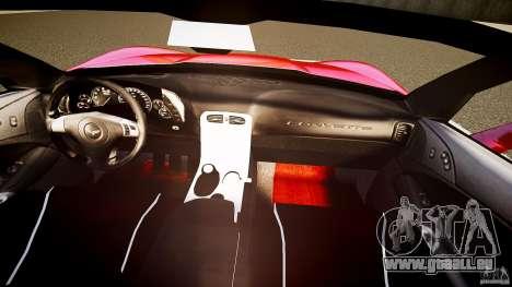 Chevrolet Corvette Z06 1.2 für GTA 4 Unteransicht