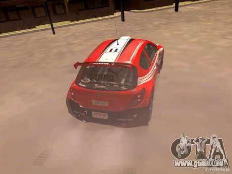 Peugeot 207 S2000 Puma pour GTA San Andreas sur la vue arrière gauche