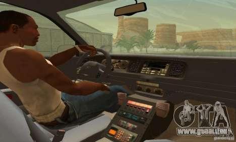 Ford Crown Victoria West Virginia Police pour GTA San Andreas sur la vue arrière gauche