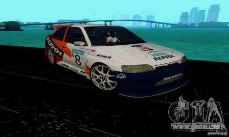 Ford Escort RS Cosworth für GTA San Andreas Rückansicht