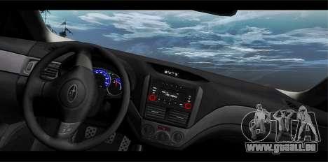 Subaru Forester XT 2008 pour GTA San Andreas vue de côté
