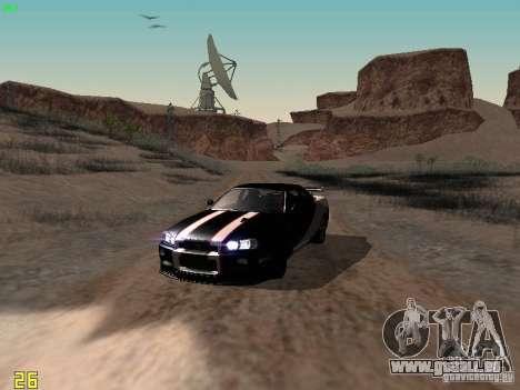 Nissan Skyline GT-R R34 V-Spec pour GTA San Andreas vue de côté