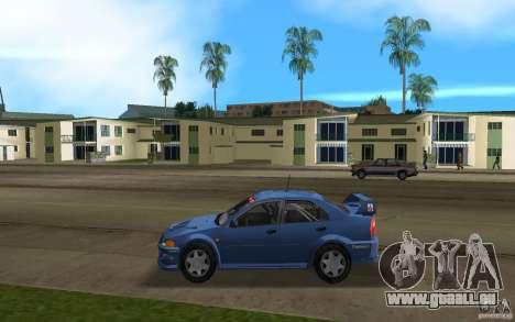 Mitsubishi Lancer Evo VI pour une vue GTA Vice City de la gauche