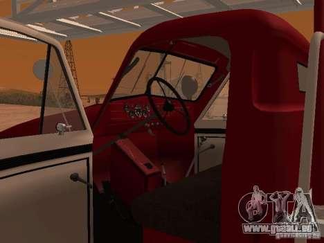 GAZ-51 ALG-17 pour GTA San Andreas vue intérieure