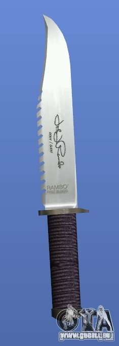 Couteau Rambo avec signature pour GTA 4 quatrième écran
