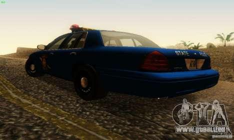 Ford Crown Victoria Michigan Police pour GTA San Andreas laissé vue