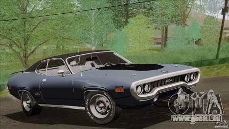 Plymouth GTX 426 HEMI 1971 pour GTA San Andreas vue arrière