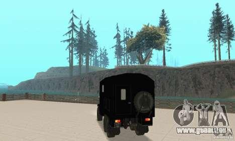 ZIL 157 pour GTA San Andreas laissé vue