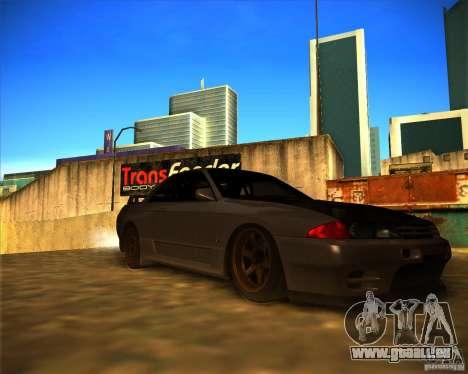 Nissan Skyline (R32) SHE pour GTA San Andreas sur la vue arrière gauche