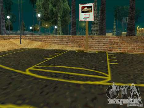 New basketball court pour GTA San Andreas