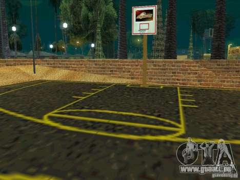 New basketball court pour GTA San Andreas