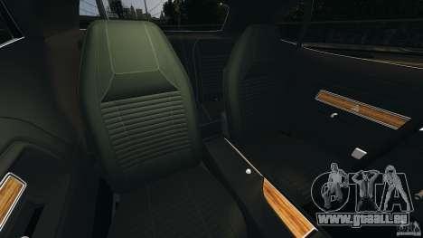 Dodge Challenger RT 1970 v2.0 pour GTA 4 est une vue de l'intérieur