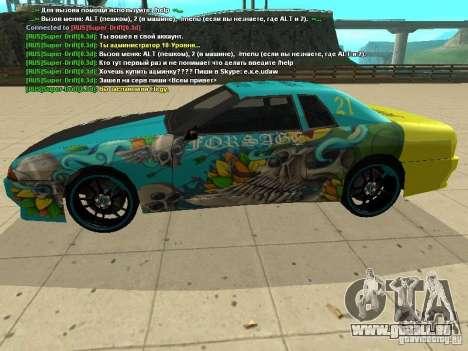 Elegy Forsage pour GTA San Andreas vue de côté