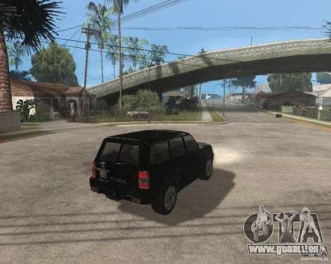 Nissan Patrol 2005 Stock pour GTA San Andreas sur la vue arrière gauche