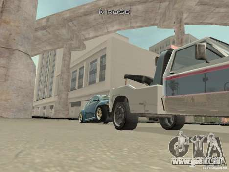VW Beetle 2004 pour GTA San Andreas vue intérieure