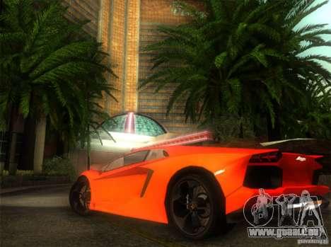 Lamborghini Aventador LP700 pour GTA San Andreas sur la vue arrière gauche