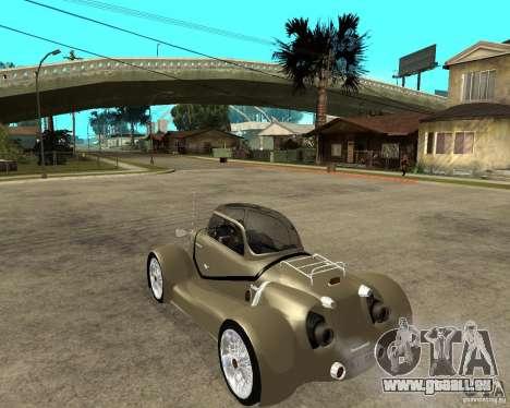 Messerschmitt GT500 Tiger Hard tuned pour GTA San Andreas laissé vue