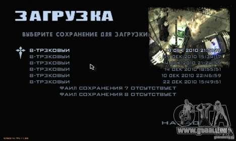 Le Menu Most Wanted pour GTA San Andreas septième écran