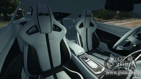 Jaguar XKR-S Trinity Edition 2012 v1.1 pour GTA 4 est une vue de l'intérieur