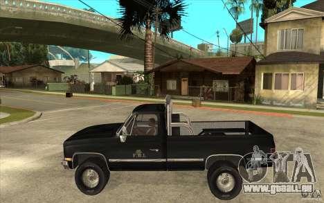 GMC Sierra 1986 FBI pour GTA San Andreas laissé vue