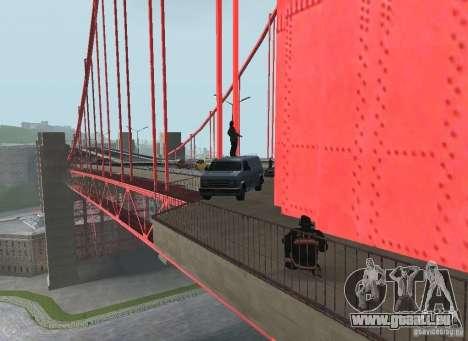 Ein Selbstmordattentäter auf der Brücke für GTA San Andreas sechsten Screenshot