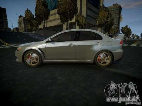 Mitsubishi Lancer Evolution X für GTA 4 linke Ansicht