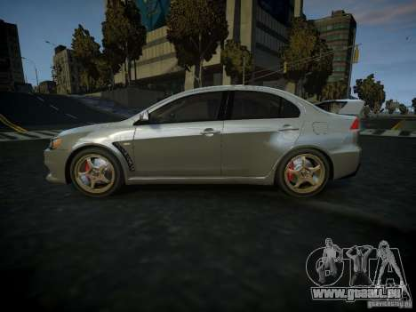 Mitsubishi Lancer Evolution X pour GTA 4 est une gauche