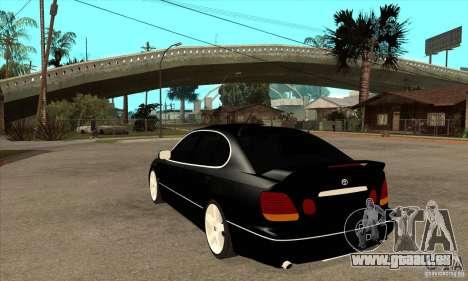 TOYOTA ARISTO 2001 Jahr für GTA San Andreas zurück linke Ansicht