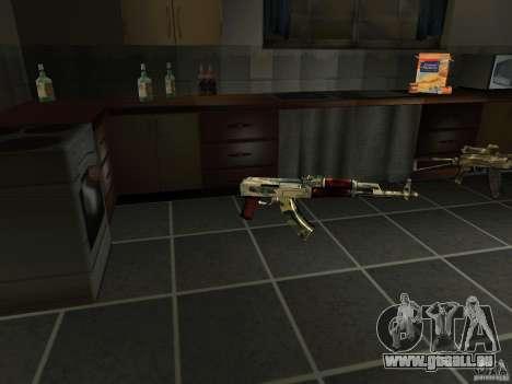 Pak version domestique armes 4 pour GTA San Andreas cinquième écran
