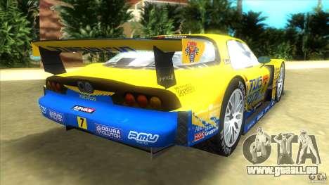 Mazda Re-Amemiya RX7 FD3S Super GT pour GTA Vice City sur la vue arrière gauche