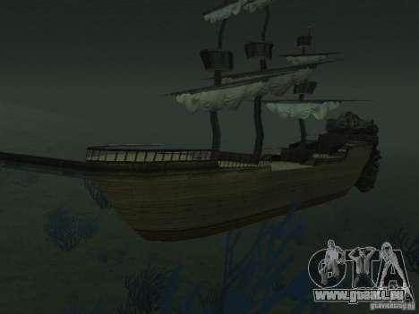 Bateau pirate pour GTA San Andreas septième écran
