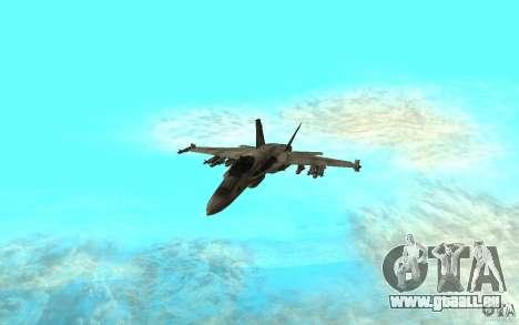 F-18 Hornet pour GTA San Andreas laissé vue