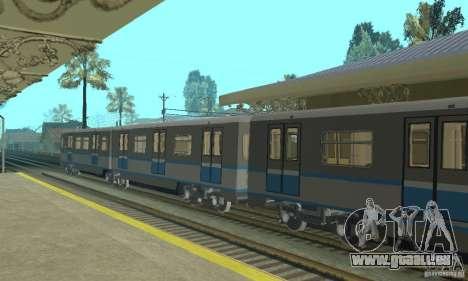 4 Rusich train pour GTA San Andreas vue de droite