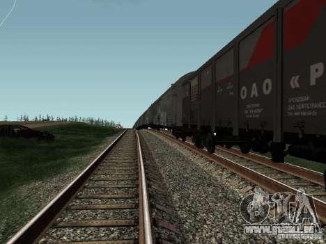 Ouvrez JSC RZHD pour GTA San Andreas vue de droite