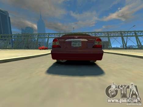 Daewoo Leganza CDX pour GTA 4 Vue arrière de la gauche