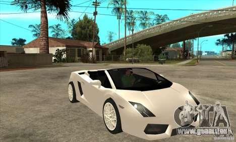 Lamborghini Gallardo Spyder v2 für GTA San Andreas Rückansicht