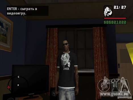 Joker-T-shirt für GTA San Andreas