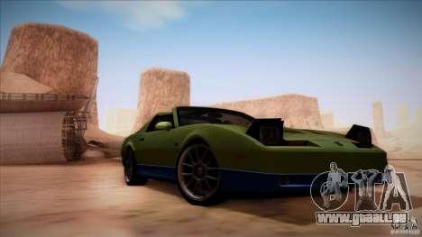 Pontiac Firebird Trans Am für GTA San Andreas Rückansicht