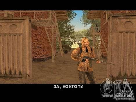 Haut-Narbe von einem stalker für GTA San Andreas dritten Screenshot