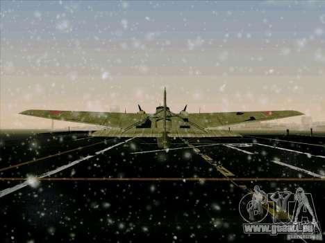 TB-3 pour GTA San Andreas vue arrière