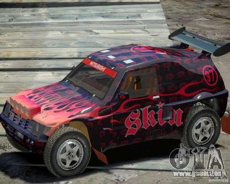 Mitsubishi Pajero Proto Dakar EK86 vinyle 4 pour GTA 4 Vue arrière