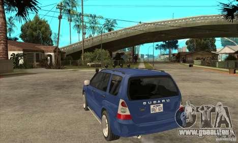 Subaru Forester 2005 pour GTA San Andreas sur la vue arrière gauche