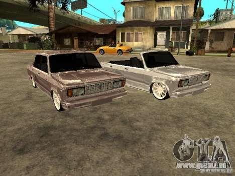VAZ 2107 Convertible pour GTA San Andreas vue arrière